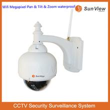 Wireless wifi outdoor/indoor P2P Pan/Tilt/Zoom PTZ electric optical zoom wifi ip camera with nvr kit poe