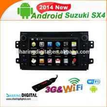 Android 4.2.2 Car Satnav player For Suzuki SX4 2006-2012 car dvd radio player gps navigation with 3G mirror-link OBD2