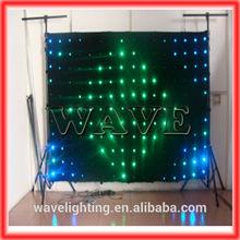 WLK-1P18 Black fireproof Velvet cloth RGB 3 in 1 leds background led video wall nightclub