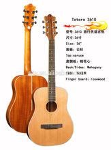 "36""Acoustic cedar top mahogany backside travel guitar 3610 guitar factory"