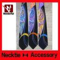 Nouveau design de marque de fantaisie motif imprimé men'super skinny cravate pour cravate