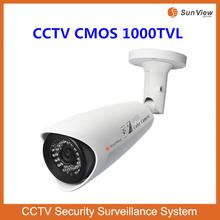 SunView waterproof high image quality Megapixel 1000TVL IR Sony 1000tvl BULLET camera