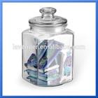 glass jar ring seal bear glass jar/ sealable glass jar