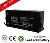 Rechargable VRLA deep cycle GEL solar battery 12v 200ah