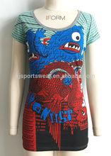OEM china popular design lady long t shirt woman fashion 2014 cheap