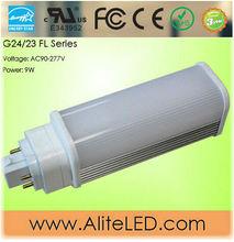 270 degree led 7W lamp 9W g24 base E343952 UL Approval
