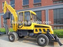 2014 factory supply cheap full hydraulic 6ton wheel excavator