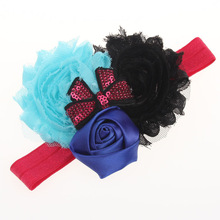 Beautiful rose flower baby headband, Head hair bands children Christmas gift
