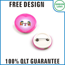Free design Japan quality standard button badge/wedding favor