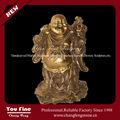 fundido em bronze estátua de buda estátua de bronze chinês laughing buddha estátua do jardim