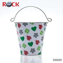 Colorful design antique metal bucket