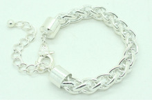 Hot Selling Shiny Silver Plated Chain Bracelet-DGLB586