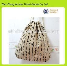 wholesale cheap vintage custom print cotton drawstring shoe bag