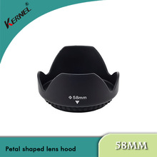 kernel 58mm Screw Mount Flower Petal Shaped Lens Hood