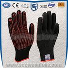 SEEWAY black glove pvc dots