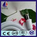 cixi qianyao color blanco reforzado de pvc flexible tubo de la ducha