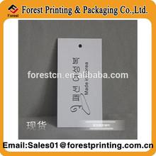 black LOGO custom clothes price tags card stock paper luggage tag fashion tag line