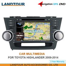 Car multimedia Navigation GPS DVD for toyota Highlander 2009-2014 CE FCC ROHS