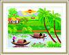 Beautiful Scenery Vietnam style 100% precisely printed cross stitch