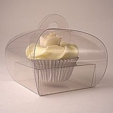 custom plastic transparent PP, pvc, PET cupcake box with insert or with tray