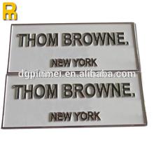 Hot!!! 2014 personalized logo embossed self adhesive aluminum sticker