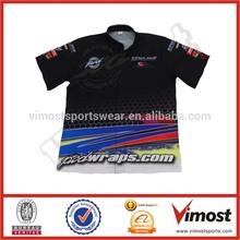 Custom logo motorcycle/auto racer shirt sublimation racing shirt