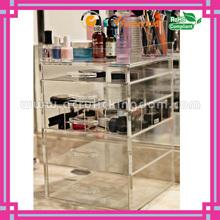 clear custom fine craft fashion 5 drawer acrylic makeup organizer manufacturer