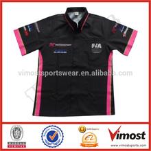 Professional team motorcycle/auto racer shirt custom racing shirt