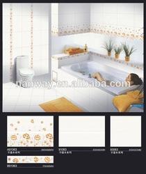 3D glazed 300x450mm white embossed ceramic tile