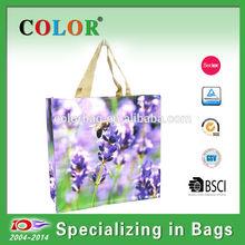 Flower printing matte bags,matte shopping bag, matte tote bag
