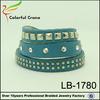2015 hot sale fashion alloy wrist band crystal leather bracelet wholesale