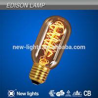 Antique Vintage Edison Bulb Light 40W 220V/110V Tungsten Light Source T300 Edison Bulbs Home Decoration