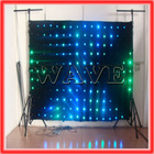 WLK-1P18 Black fireproof Velvet cloth RGB 3 in 1 led stage used led curtain display video