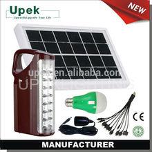 Portable solar fan kit with solar panel