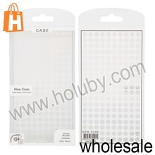 Cheap Wholesale Price 8.6x15.5x2cm Dots Pattern Transparent Cellphone Phone Cover PVC Packing Box Package Bag Package Case