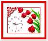 2014 DIY handcraft clock cross stitch