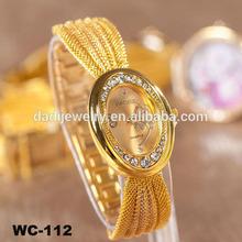 The latest fashion watches women Classic Rhinestone gold luxury watches