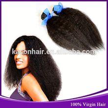 Qingdao Kason Hair Factory Wholesale Price Virgin Malaysian Clip In Kinky Straigh Braid Hair Extensions