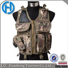 Comfortable,leather shoulder 600D Oxford military vest
