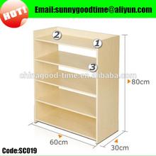 5layers wooden open shoe storage shelf