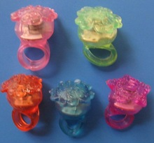 Creative promotional gifts Led Ring Lighting,LED Jelly Bump Ring