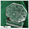 Sandblasted Crystal Octagon Poker Award Trophy
