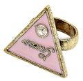 Mode coréenne Flash diamant anneaux Triangle lettres