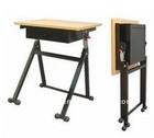 School kids wooden steel single desk,children furniture