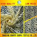 Jaune de mode vêtements de matériel toile d'araignée motif. maillage. en gros tissu de dentelle textiles