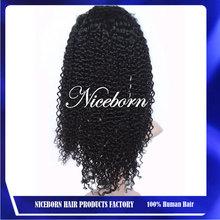 cheap curly brazilian hair long afro kinky human hair lace front wigs