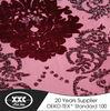 High quality luxury new design flower latest velvet curtain fabric