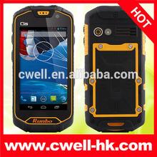 "Runbo X5 King upgraded version- Runbo Q5S 4.5"" MTK6589 Quad Core IP67 Waterproof Rugged Smartphone with Walike Talike"