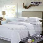 Hotel Linens and bedding, Linen Fabric 100% cotton satin 3cm stripe luxury hotel bedding set