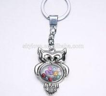 fashion owl shaped floating locket charm